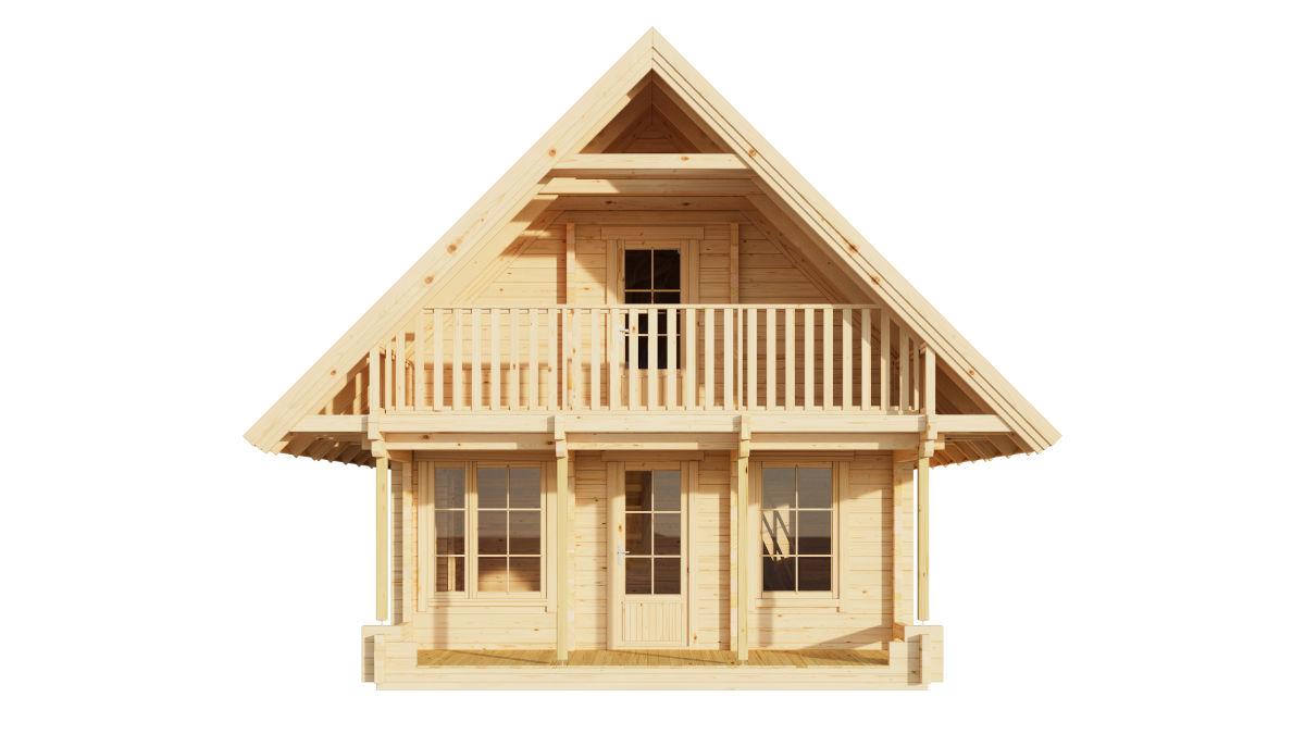 Anders 90 - casa de troncos de 2 pisos