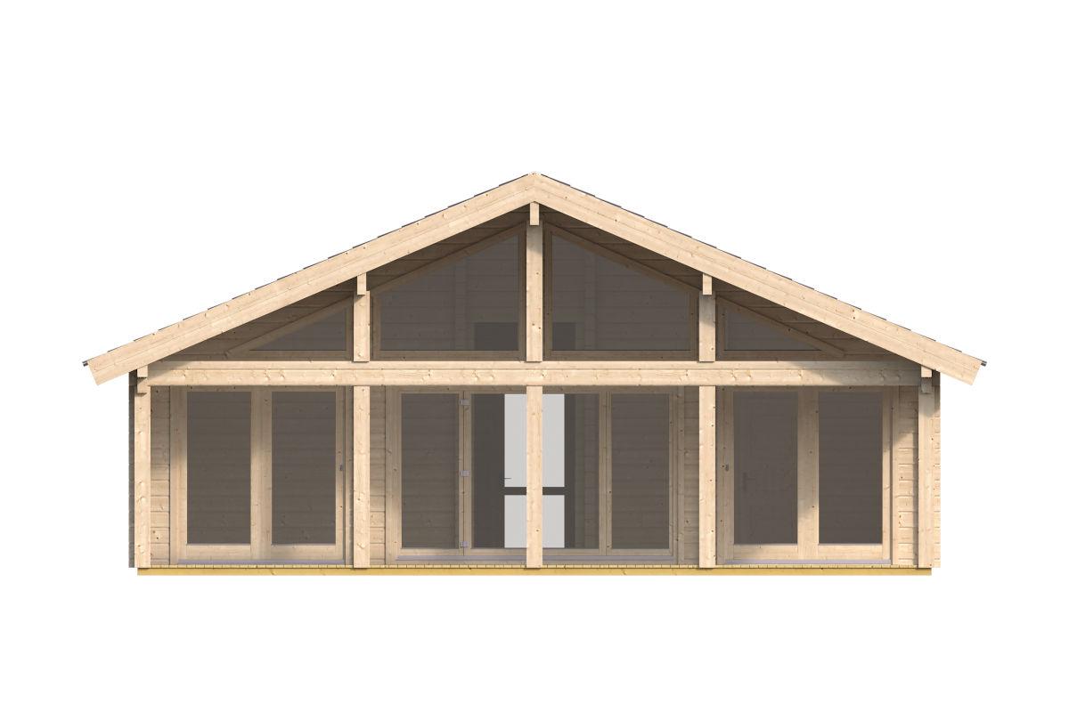 Caroline - cabaña de madera con ventanas grandes