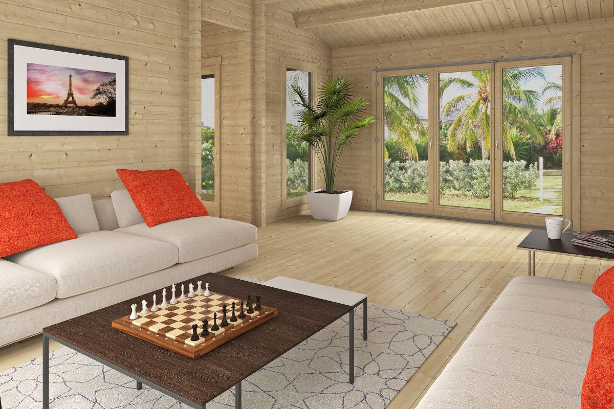 Casablanca - cabaña de madera con varias habitaciones