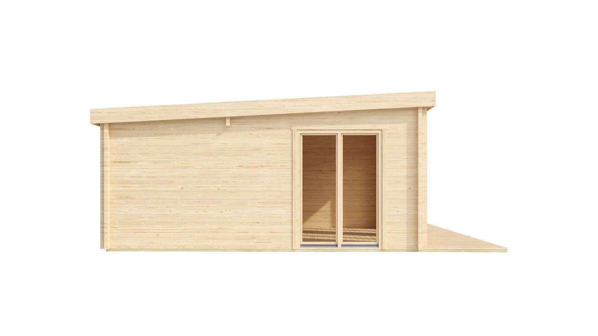 Harlie 70 es una versátil casa de jardín con 3 habitaciones