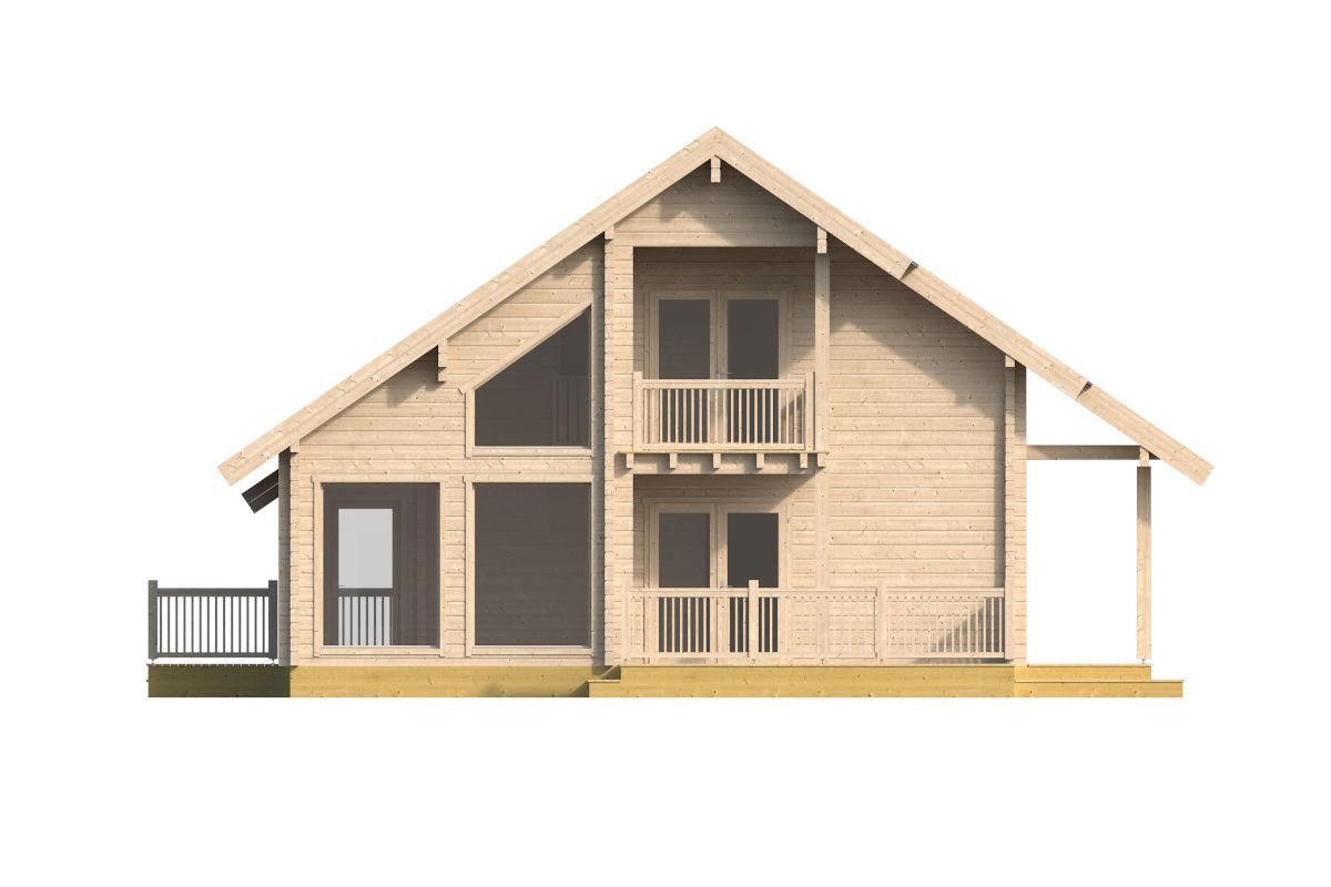 Naivasha – casa de troncos con dos terrazas