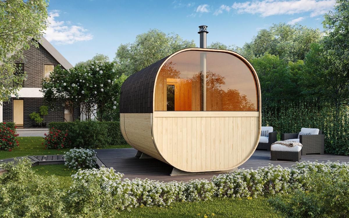 Anna - sauna de barril con terraza extra amplia