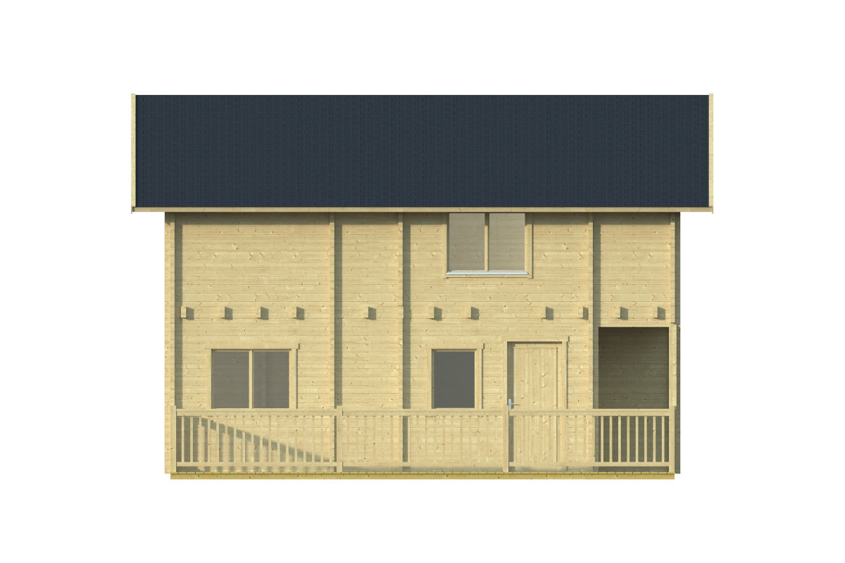 Buenasuerte 70 - casa de troncos con una terraza